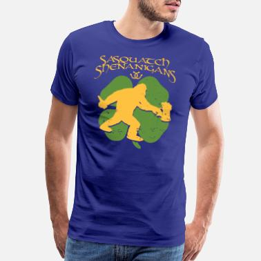 Prominent Sasquatch Shenangians Party like bigfoot on St. - Men's Premium T-Shirt