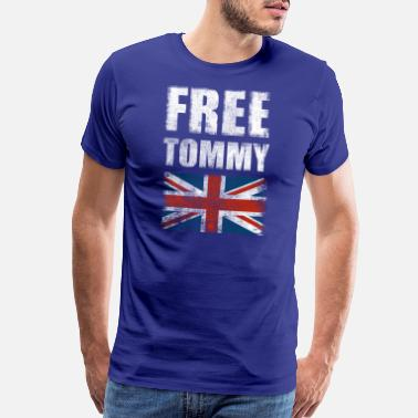 Tommy Free Tommy Robinson Free Speech UK Justice Protest - Men's Premium T-Shirt