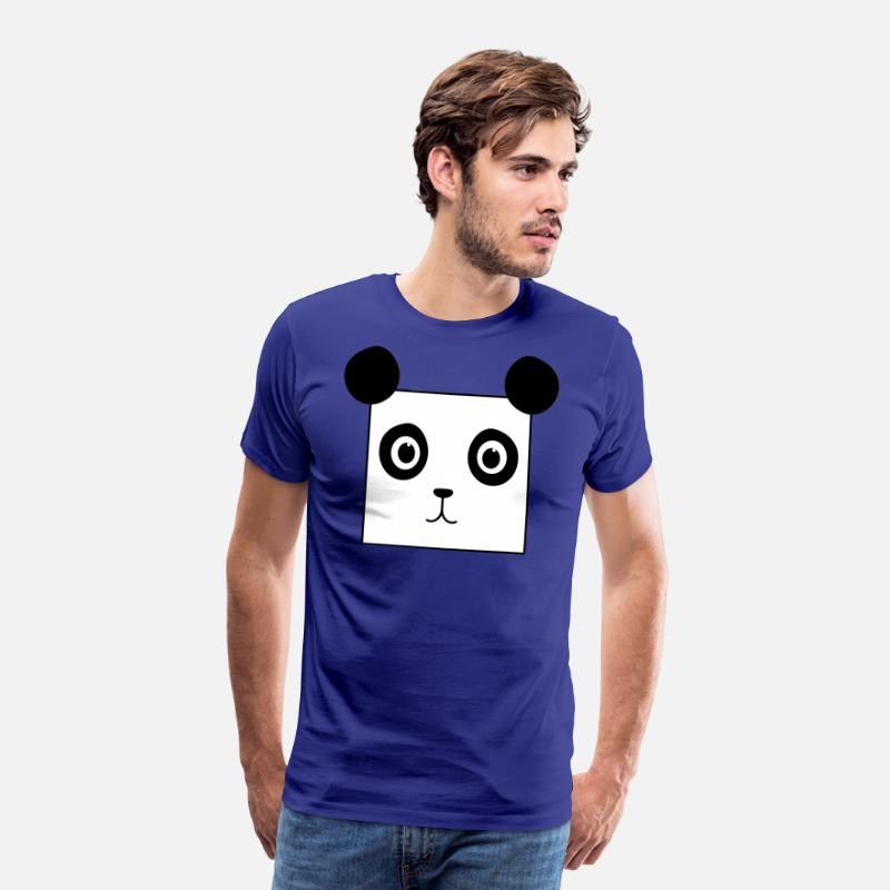 Panda T-Shirts - Square Panda - Men's Premium T-Shirt royal blue