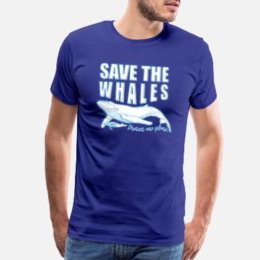 Greenpeace A save the whales T-shirt - Men's Premium T-Shirt
