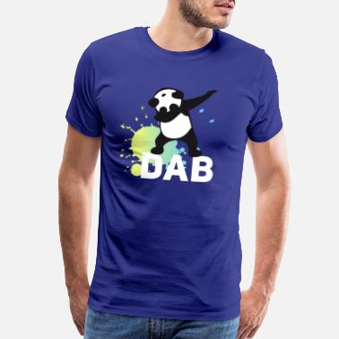 Mardi Gras dabbing football touchdown mooving dance panda - Men's Premium T-Shirt