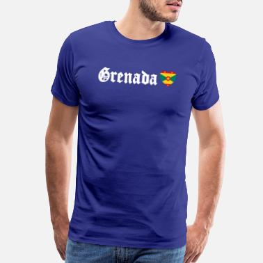 Indian Flag Grenada Flag Blackletter Grenadian Caribbean - Men's Premium T-Shirt
