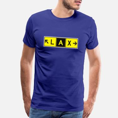 Taxiway LAX Airport Taxiway Direction Sign Array RWY - Men's Premium T-Shirt