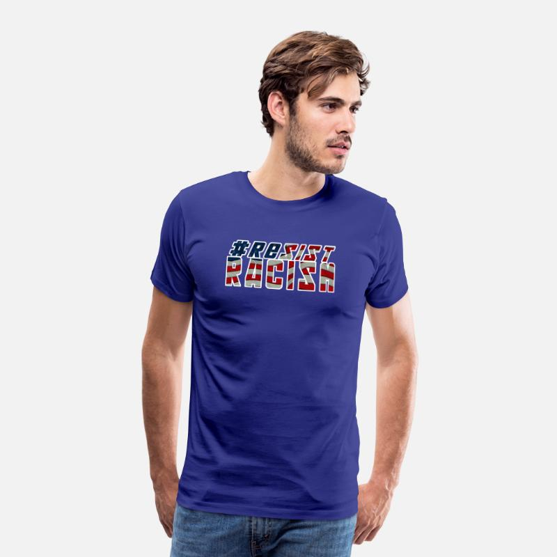 Anti Racism T-Shirts - Resist Racism - Men's Premium T-Shirt royal blue