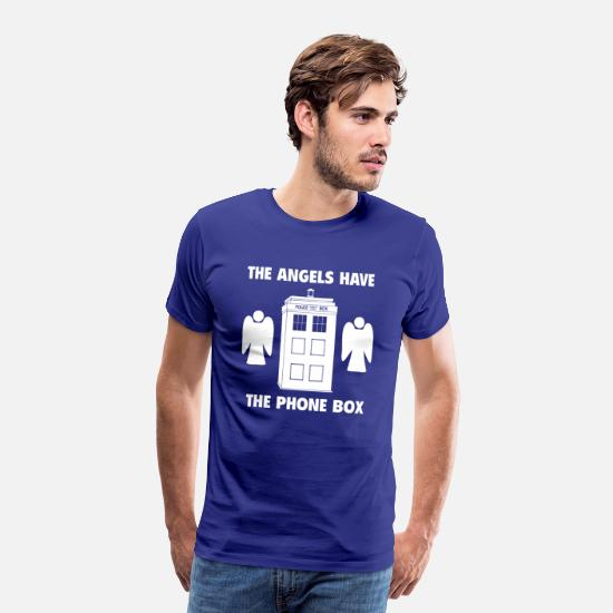 Phone T-Shirts - The angels have the phone box - Men's Premium T-Shirt royal blue