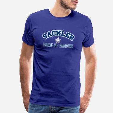 Sackler Sackler SO Medicine Blue w/Wh Outline, Wh Logo - Men's Premium T-Shirt