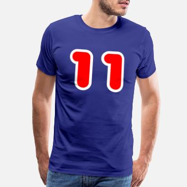 Rugby LUCKY NUMBER ELEVEN 11 SPORTS FOOTBALL RUGBY - Men's Premium T-Shirt