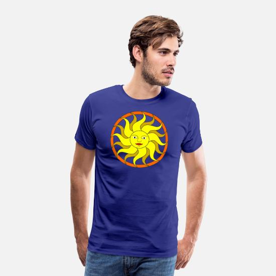 Sun T-Shirts - Sun Design - Men's Premium T-Shirt royal blue
