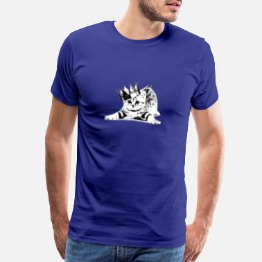 Cat With Crown Cat wearing a crown - Men's Premium T-Shirt