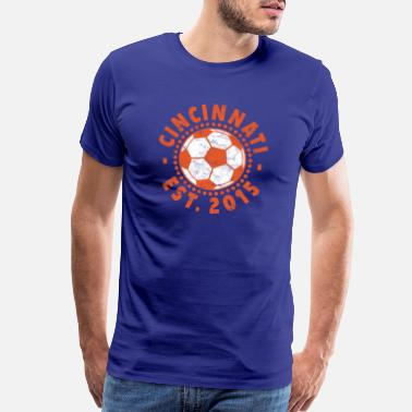 Team Orange Vintage Cincinnati Soccer T-Shirt FC Sincy Sport F - Men's Premium T-Shirt