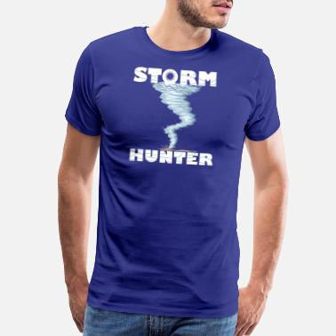 Tornado Weather Tornado whirlwind Storm Hunter cool design - Men's Premium T-Shirt