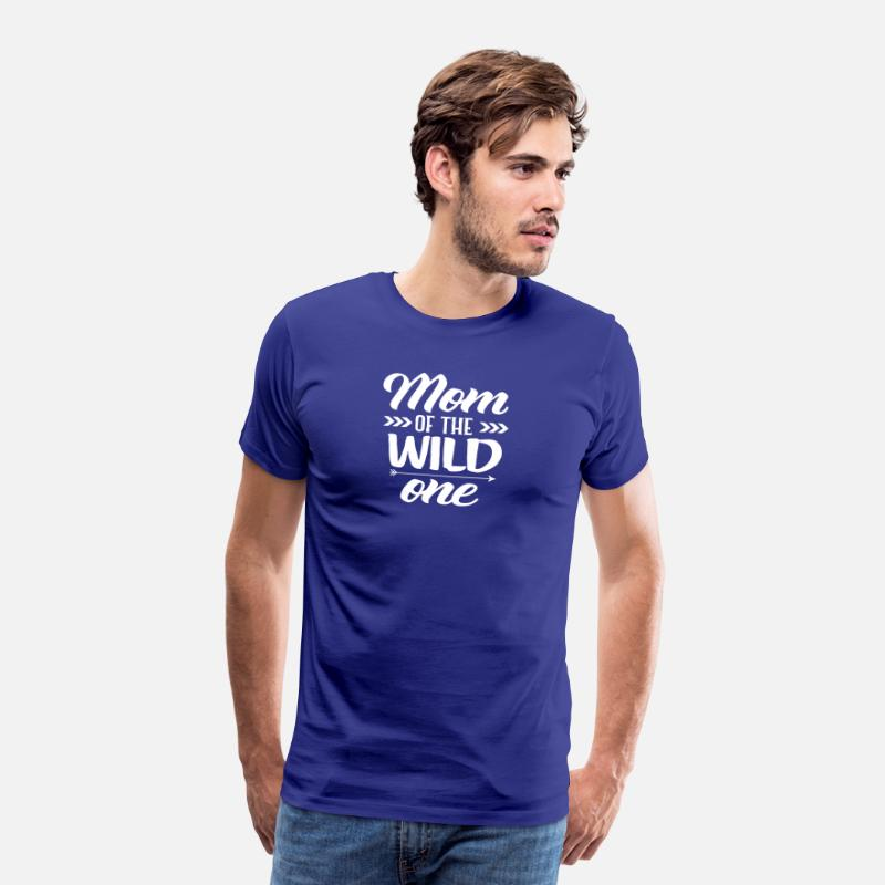 1st Birthday T-Shirts - Cute Mom Of The Wild One Thing 1st Birthday - Men's Premium T-Shirt royal blue