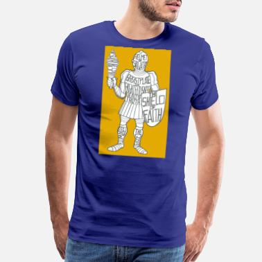 Suit Of Armor Dave The Cat Suit Of Armor GOLD - Men's Premium T-Shirt
