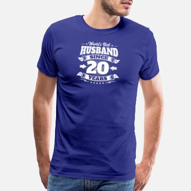 20th Anniversary Wedding Day 20th Anniversary Gift Husband Hubby - Men's Premium T-Shirt