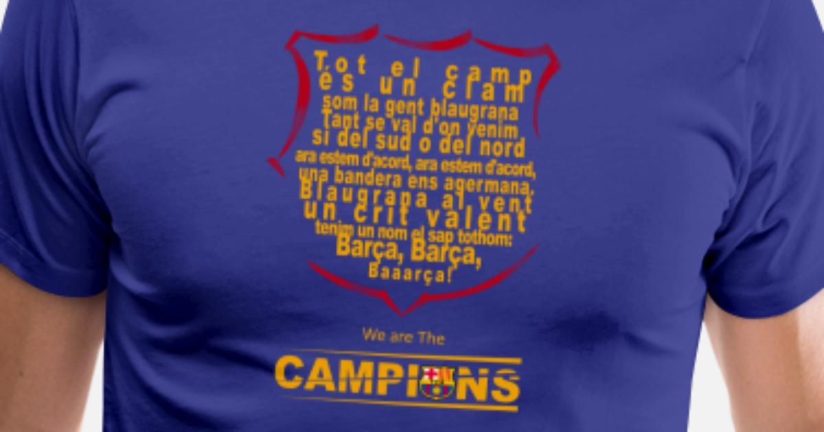60643dc5e Lyrics of the FC Barcelona Anthem Men s Premium T-Shirt