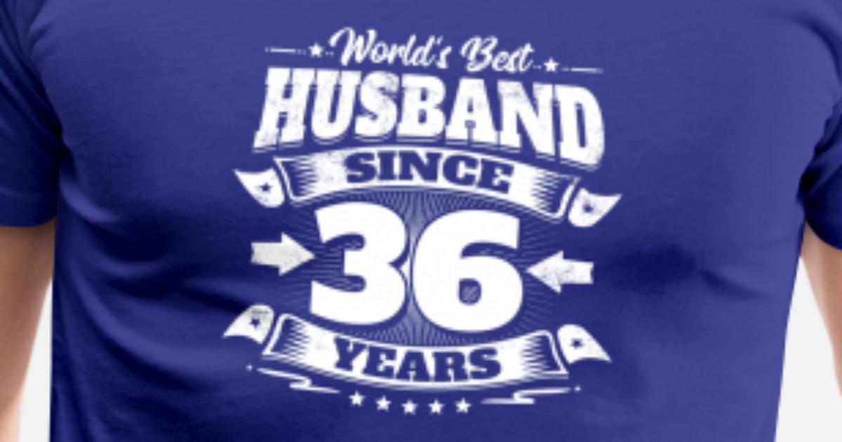 Wedding Day 36th Anniversary Gift Husband Hubby Men S Premium T