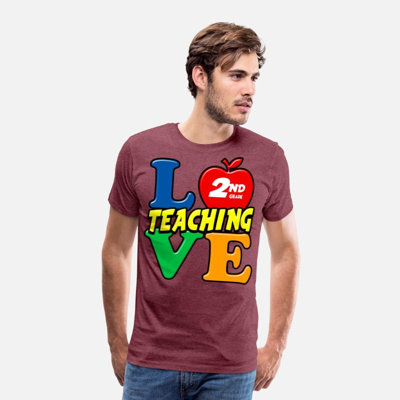 e559ff45 Love Teaching 2nd Grade School Teacher Men's Premium T-Shirt | Spreadshirt
