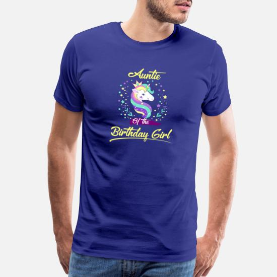 30335f00bc96 Dad T-Shirts - Auntie of the Unicorn Birthday Girl funny shirts gifts -  Men's
