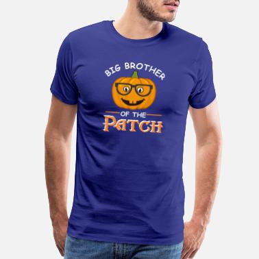 Halloween Toddler Big Brother Of The Patch Halloween Matching gift - Men's Premium T-Shirt