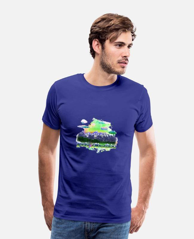 Mountains T-Shirts - rocky mountains 4 j - Men's Premium T-Shirt royal blue