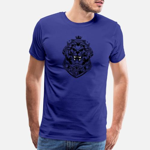 Lion Roi De Betes Tatouage Couronne En Forme De Roi T Shirt Premium