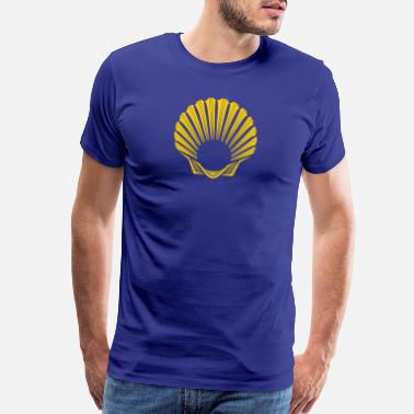 James Camino de Santiago | Way of St James | Scallop - Men's Premium T-Shirt