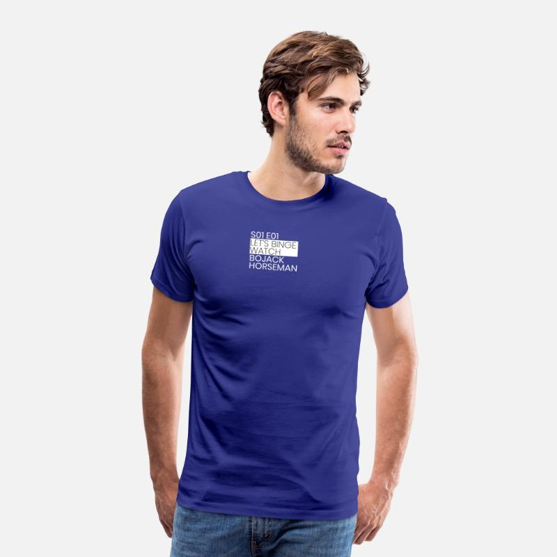 Bojack T-Shirts - BoJack Horseman - Men's Premium T-Shirt royal blue