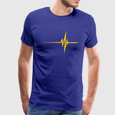 Pulse / Beat / EKG - Men's Premium T-Shirt