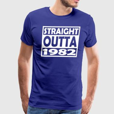 35th Birthday T Shirt Straight Outta 1982 - Men's Premium T-Shirt