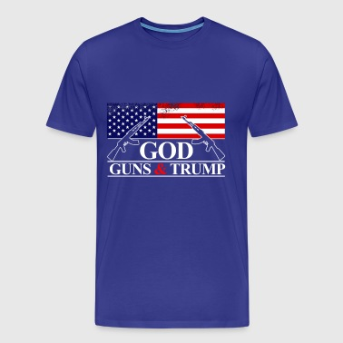 GOD GUNS & TRUMP - Men's Premium T-Shirt