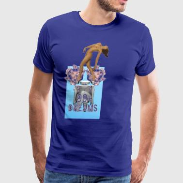 99 Cent Dreams Official With Naked Woman On Top - Men's Premium T-Shirt
