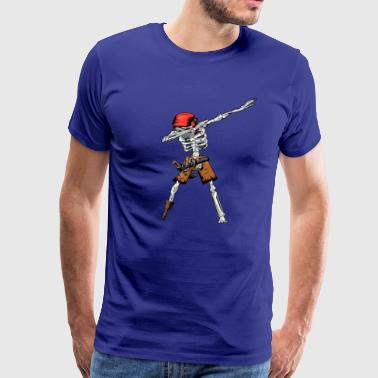 Jolly Roger Dabbing Skull Skeleton Pirate - Men's Premium T-Shirt