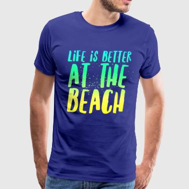 At the Beach - Men's Premium T-Shirt