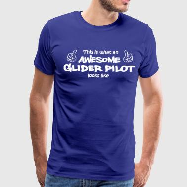 this is like an awesome glider pilot look like - Men's Premium T-Shirt
