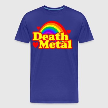 FUNNY DEATH METAL RAINBOW - Men's Premium T-Shirt