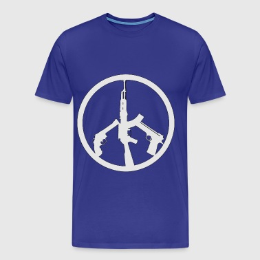 Guns Peace Sign  - Men's Premium T-Shirt