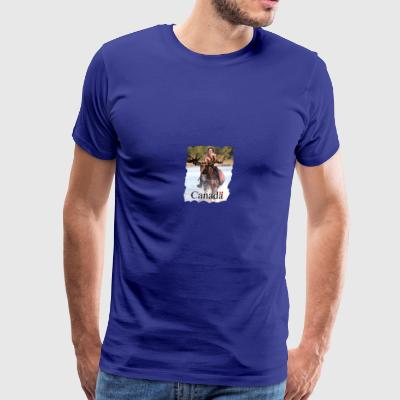 Trudeau on moose Canada - Men's Premium T-Shirt