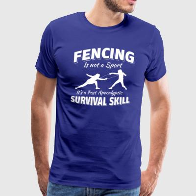 Fencing post apocalyptic designs - Men's Premium T-Shirt