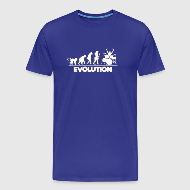Evolution Of The Drummer - Men's Premium T-Shirt