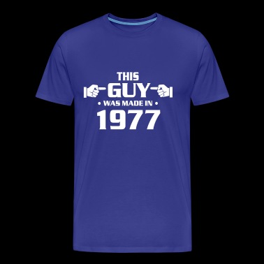 40th birthday shirts - Vintage 1977 birthday shirt - Men's Premium T-Shirt