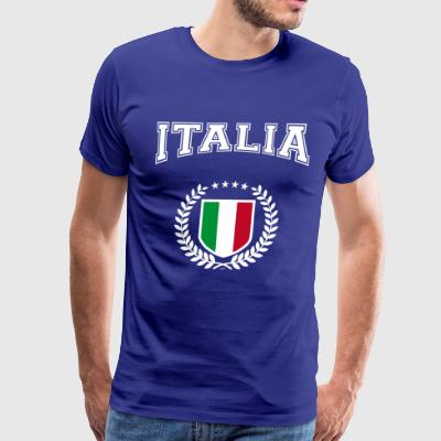 Italian coat of arms with laurel wreath - Men's Premium T-Shirt
