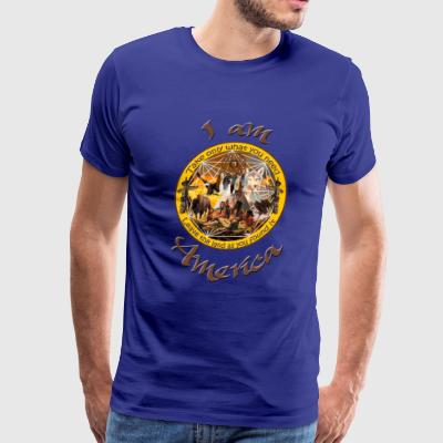 I Am America Indigenous Mandala - Men's Premium T-Shirt