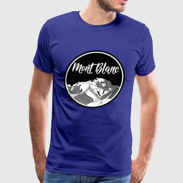 Mont Blanc Mountains - Men's Premium T-Shirt