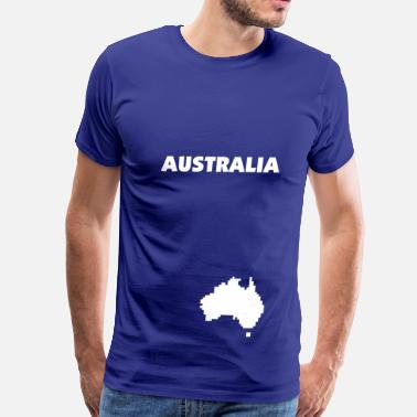 Pixelland Australia pixel map - Men's Premium T-Shirt