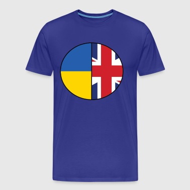 British and Ukrainian Flags National Pride - Men's Premium T-Shirt