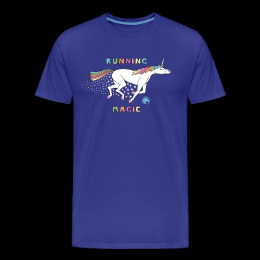 Running Magic Unicorn Outline - Men's Premium T-Shirt