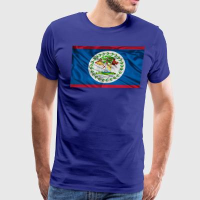 BELIZE FLAG... - Men's Premium T-Shirt
