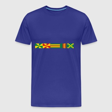 Kente Pattern - Men's Premium T-Shirt