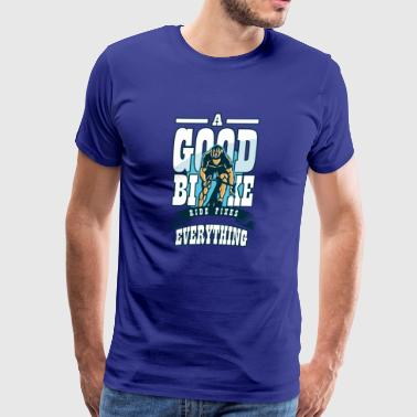 A Good Bike Ride Fixes Everything, Cyclists Tee - Men's Premium T-Shirt