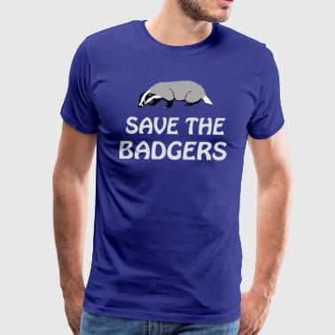 SAVE THE BADGERS - Men's Premium T-Shirt